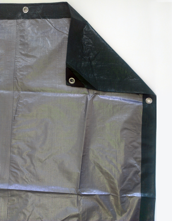 Item TGS-1525 Kotap America Ltd. Kotap 15-ft x 25-ft Heavy-Duty 12 by 12 Cross Weave 8-mil Reversible Green//Silver Poly Tarp