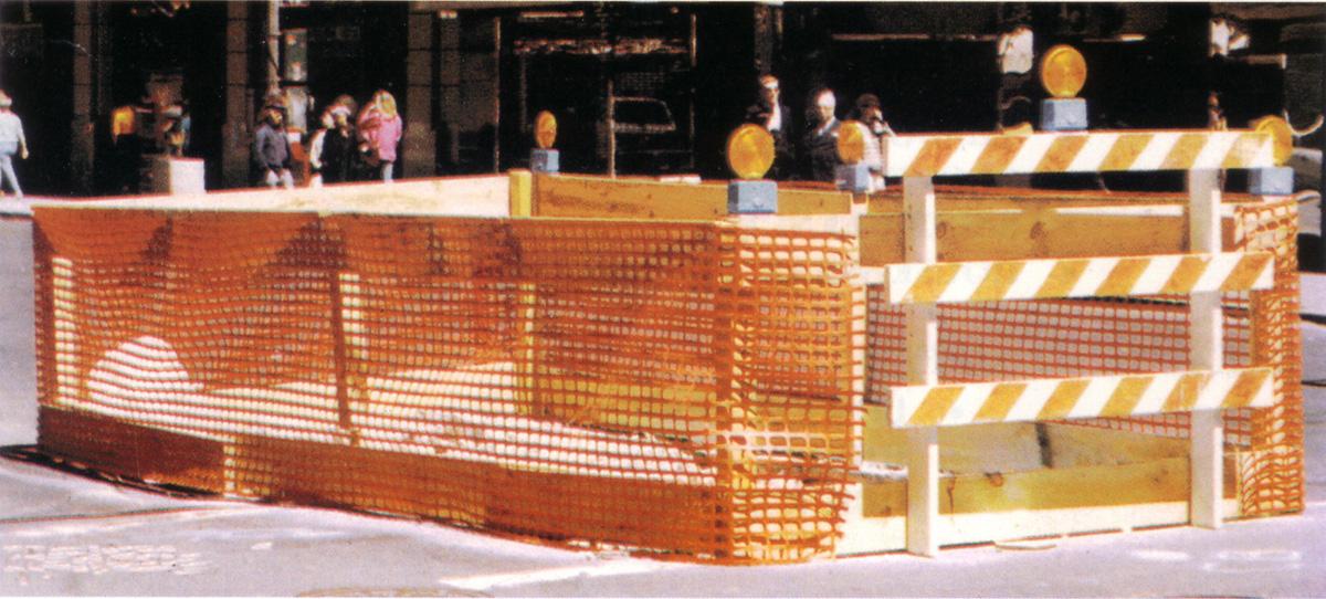 Orange Safety Snow Fence