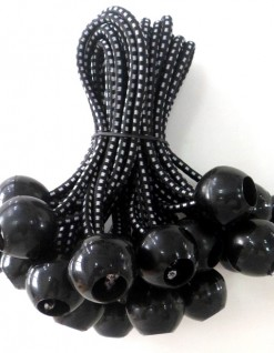black ball bungee with rubber bandw
